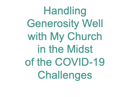 Generosity & COVID-19