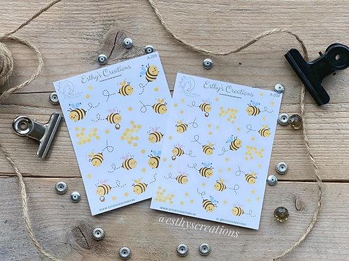 Vrolijke Bijen stickers