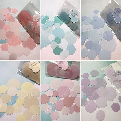 Diecut Dots in 6 verschillende kleuren