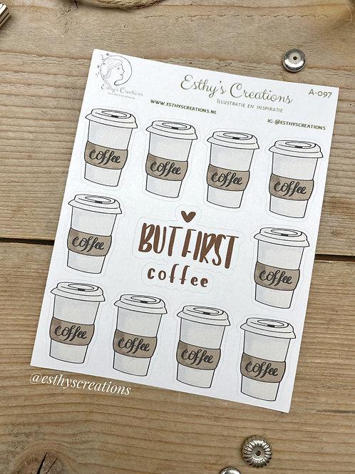 Koffie to Go stickers