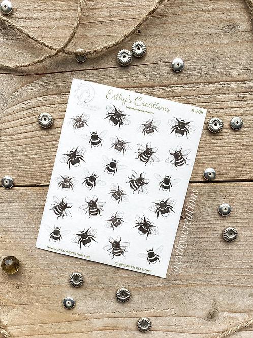 Bijen en Hommel washi stickers