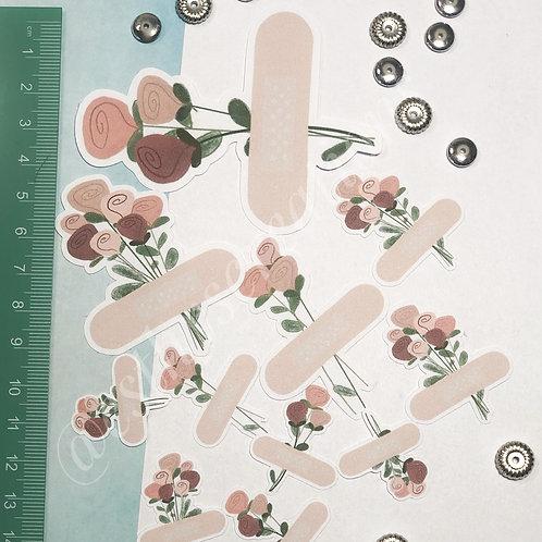 Diecut Bloemen met pleister