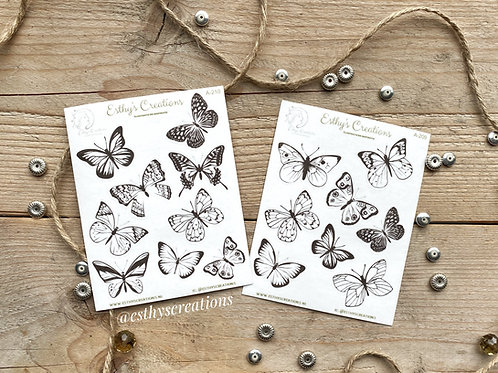 Set Vlinder washi stickers
