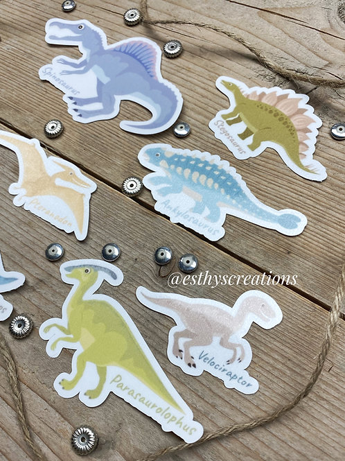 Dinosaurus Diecut stickers