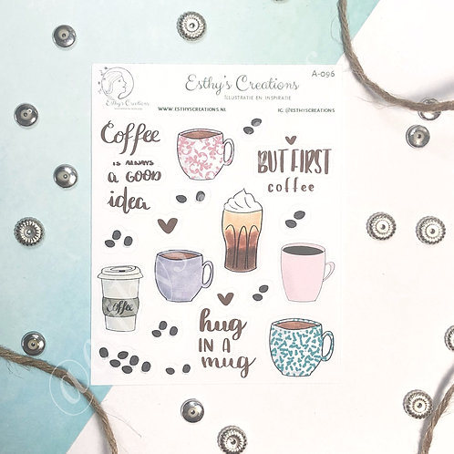 Koffie stickers / planner stickers/ bulletjournal / journal A-096