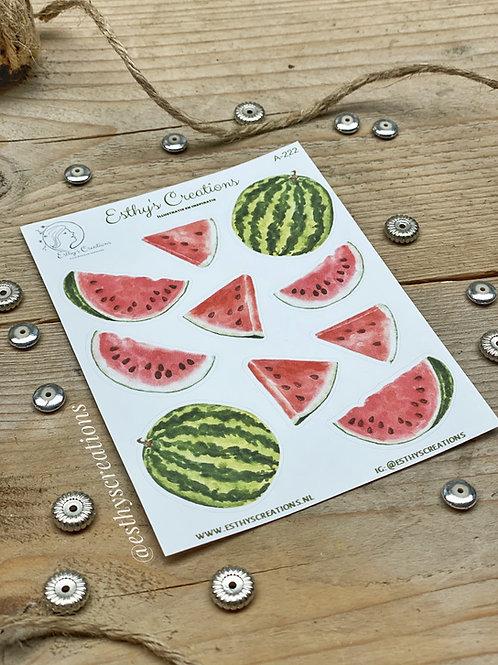 Watermeloen stickers