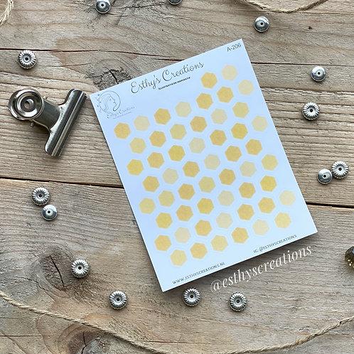 Bijenraat - Hexagon stickers