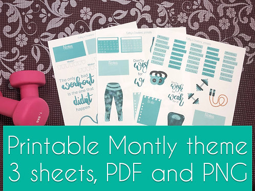 Fitgirl Monthly Printable