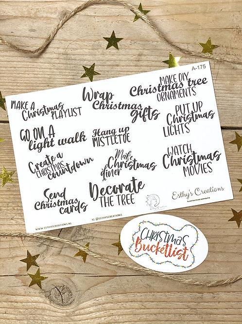 Kerst bucketlist set