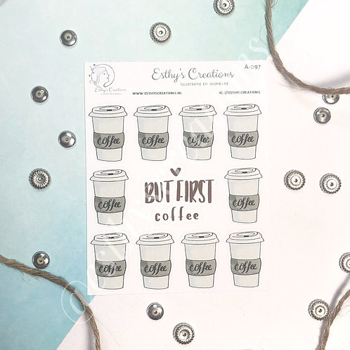 Koffie to Go stickers / planner stickers/ bulletjournal / journal A-097