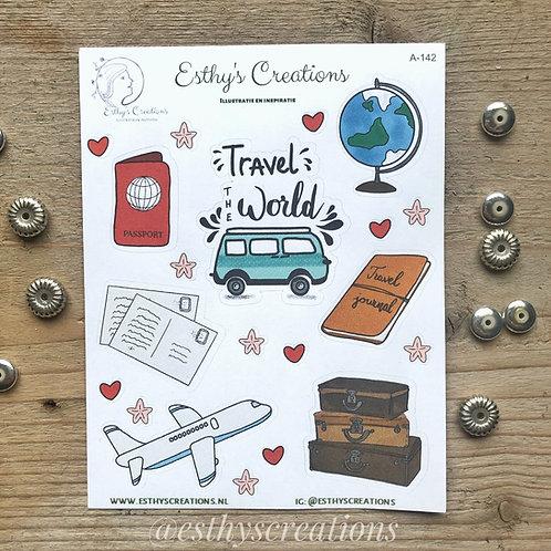 Travel stickers   koffers   reizen   vliegtuig   Bulletjournal stickers   Planne