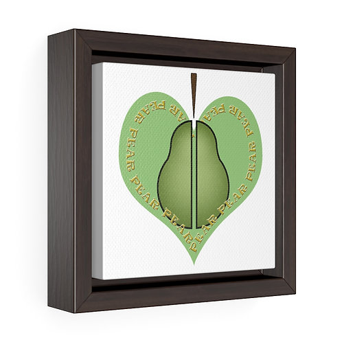 Square Framed Premium Gallery Wrap Canvas - Pear