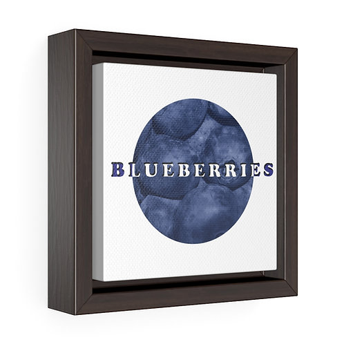 Square Framed Premium Gallery Wrap Canvas - Blueberries