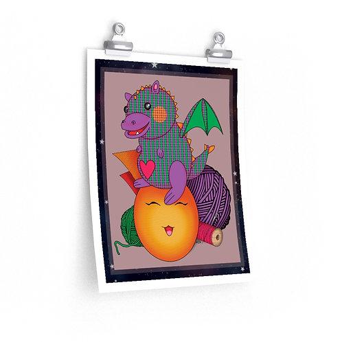 Premium Matte vertical posters - Kawaii-style Cute Dragon
