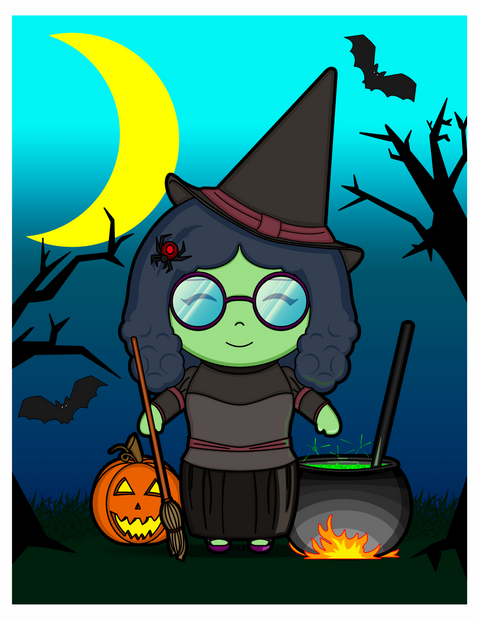 Kawaii-style Witch