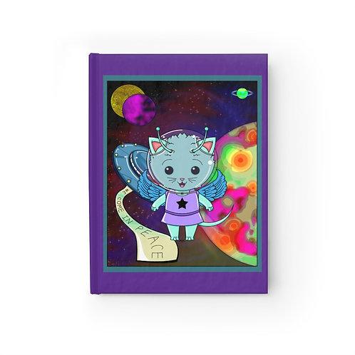 Journal -  Ruled - Kawaii-style Space Alien Kitty