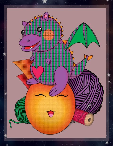 Kawaii-style Cute Dragon