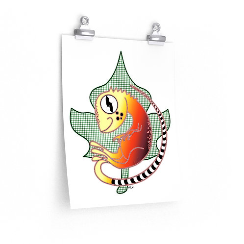 Premium Matte vertical posters - Cute Lizard