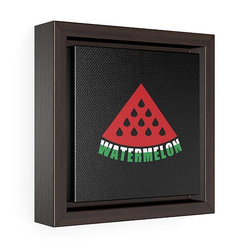 Square Framed Premium Gallery Wrap Canvas - Watermelon
