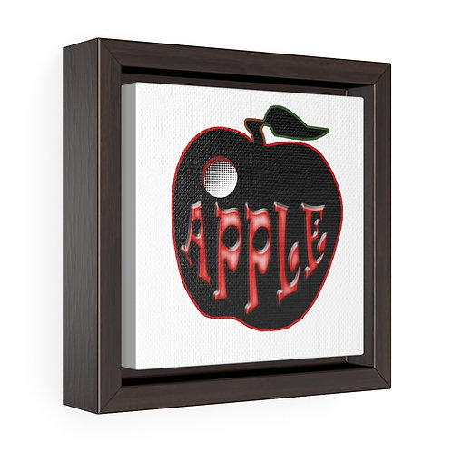 Square Framed Premium Gallery Wrap Canvas - Apple