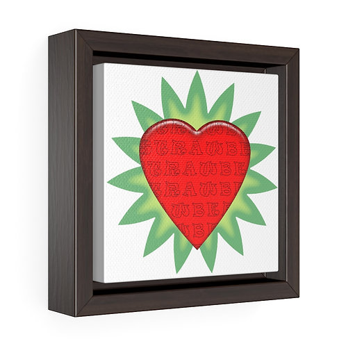 Square Framed Premium Gallery Wrap Canvas - Strawberry
