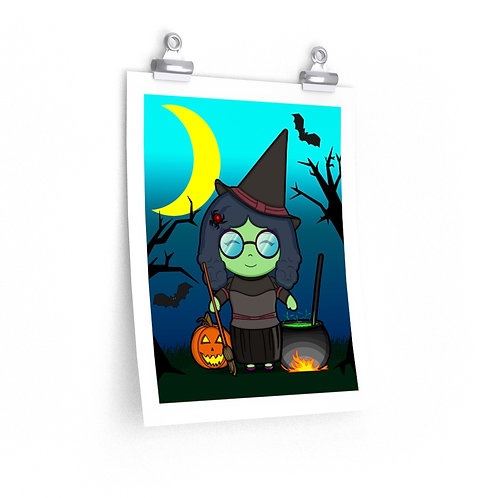 Premium Matte vertical posters - Kawaii-style Witch