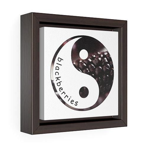 Square Framed Premium Gallery Wrap Canvas - Blackberries