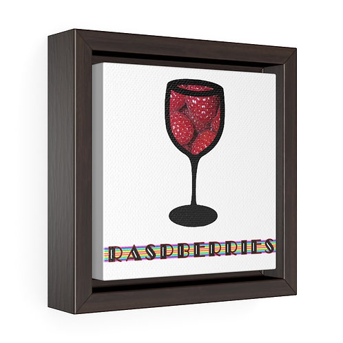 Square Framed Premium Gallery Wrap Canvas - Raspberries