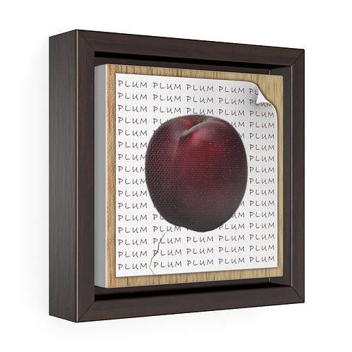 Square Framed Premium Gallery Wrap Canvas - Plum