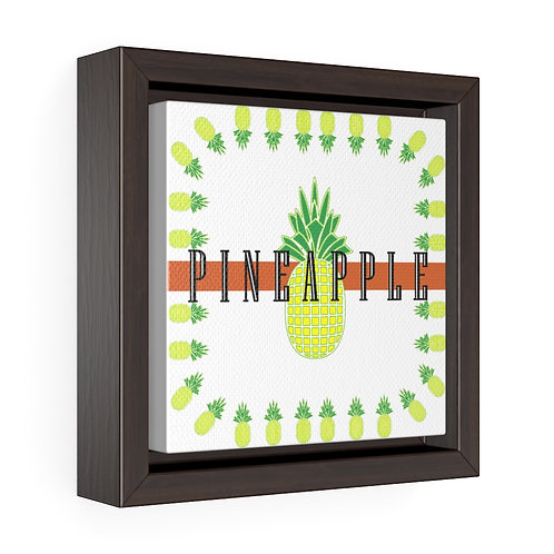 Square Framed Premium Gallery Wrap Canvas - Pineapple