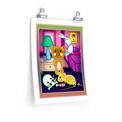 Premium Matte vertical posters - Teddy's Room