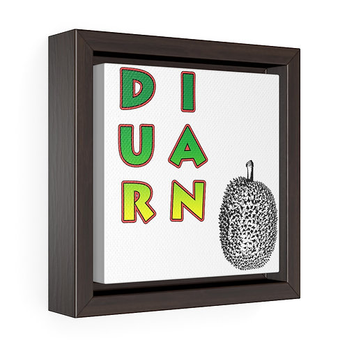 Square Framed Premium Gallery Wrap Canvas - Durian