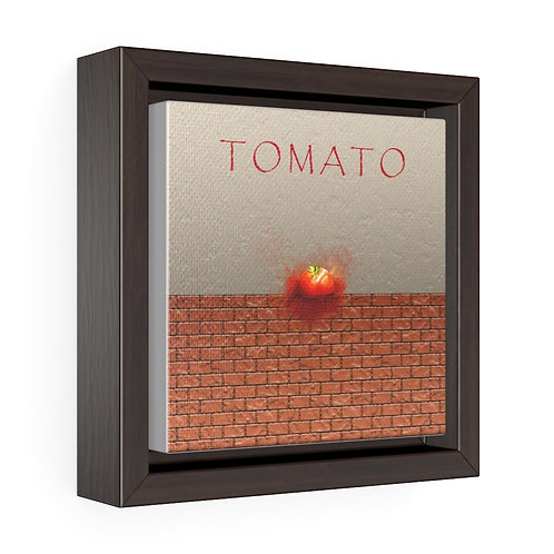 Square Framed Premium Gallery Wrap Canvas - Tomato