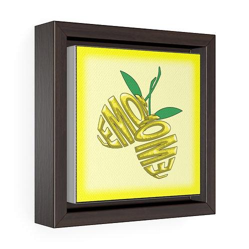 Square Framed Premium Gallery Wrap Canvas - Lemon