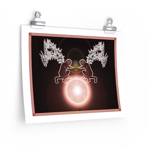 Premium Matte horizontal posters - Musical Angles Controlling Orb