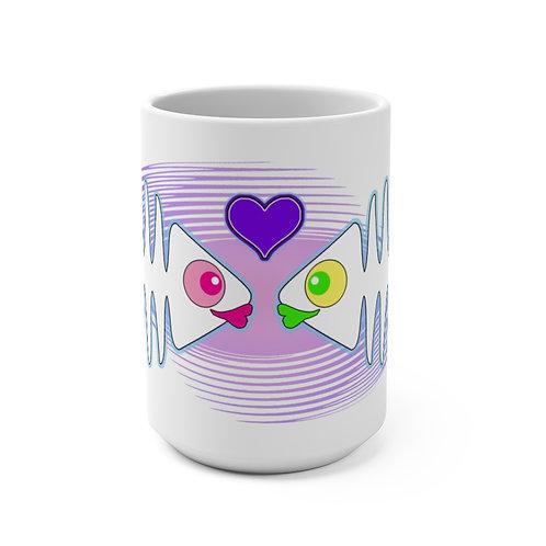 Mug 15oz - Kissy Fishes