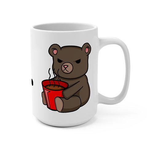 Mug 15oz - Angry Bear_with Coffee