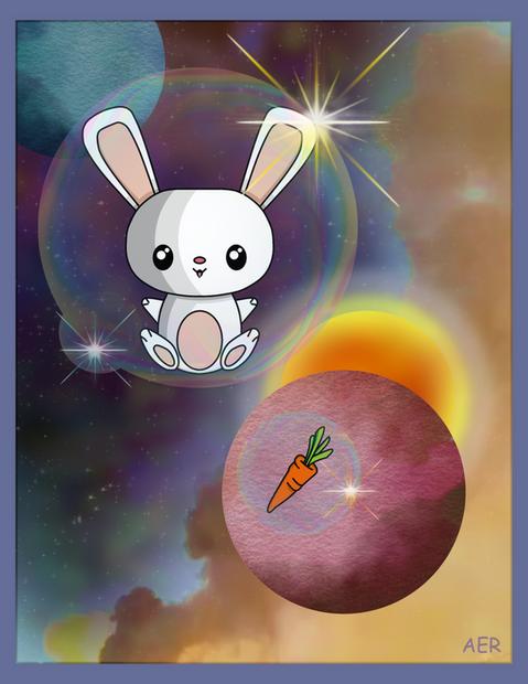 Kawaii-style Space Bunny