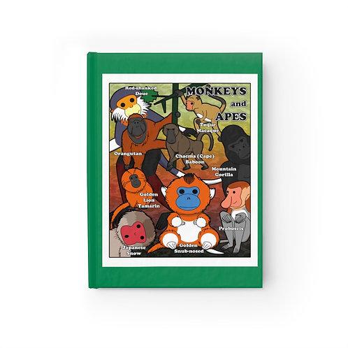 Journal - Ruled Line - Kawaii-style Monkeys