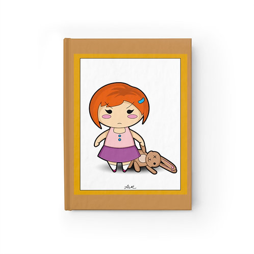 Journal - Blank - Kawaii-style Angry Girl