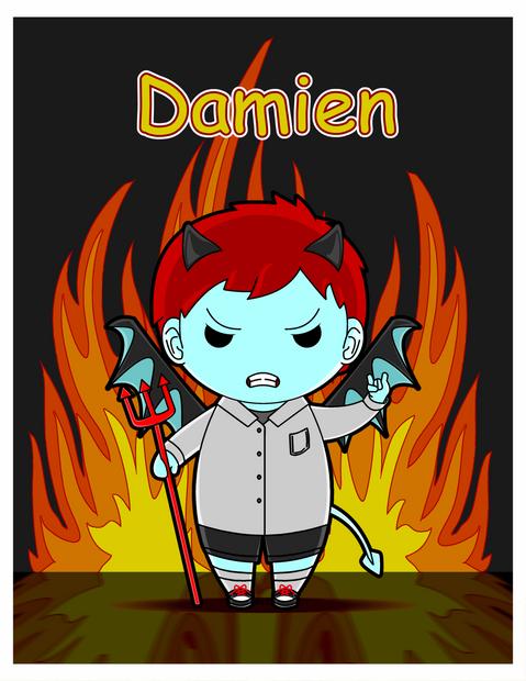 Kawaii-style Damien