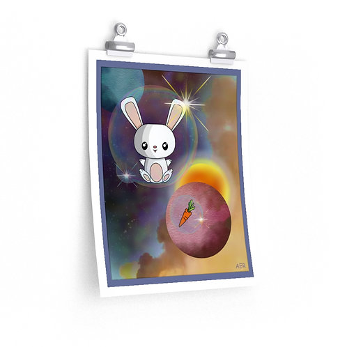 Premium Matte vertical posters - Kawaii-style Space Bunny