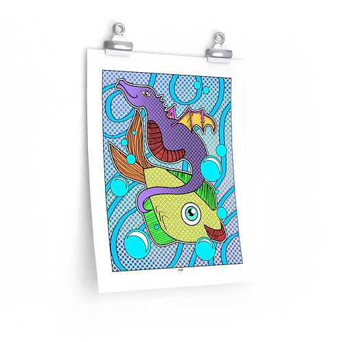 Premium Matte vertical posters - Fishy Friends