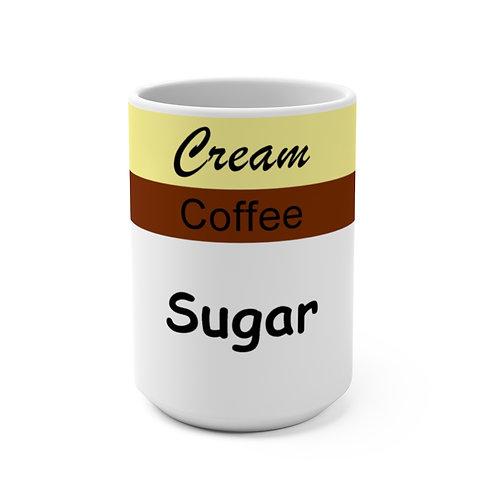 Mug 15oz - Sugar Coffee Cream