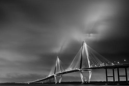RAVENEL BRIDGE // STORM AT NIGHT