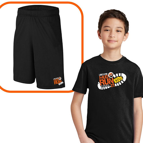 Kids Mud Run Shirt + Shorts