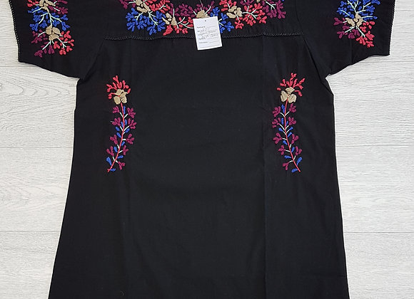 🏴Black top with coloured embroidery. Size S/M