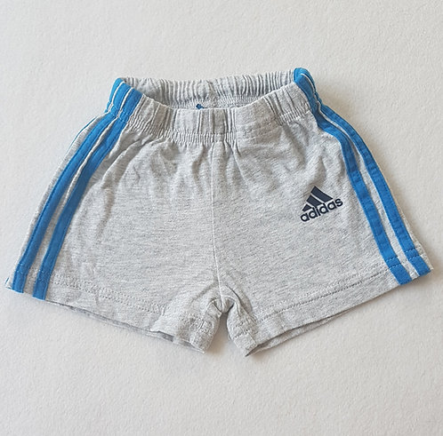 ADIDAS. Grey shorts. Size 0-3 months.