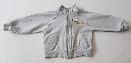 WOJCIK. Grey zip up jumper. Size 86cm