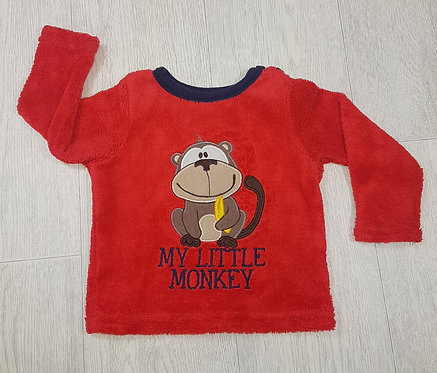 🏴EARLY DAYS. Red fluffy long sleeve top. Age 12-18 months